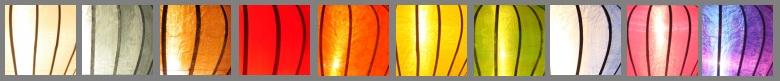 Verscheidende Farben von Laterne von Lampionsenzo.de