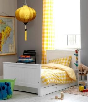 Gele kinderkamer lamp, gele hanglamp lampion