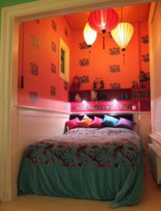 Hangelampe in Schlaffzimmer