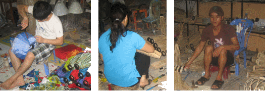 Herstellen von Vietnamesische Laternen