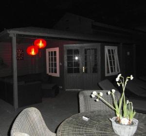 Tuinlampion op de veranda