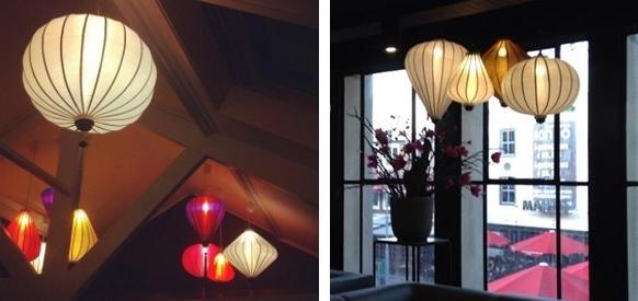 Japanese lantern lights hanging