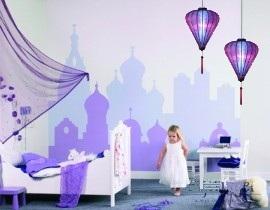 Paarse Kinderlamp paarse kinderkamer