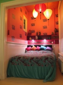 Lampion als hanglampen in de slaapkamer