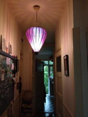Laterne oder Lampe im Flur