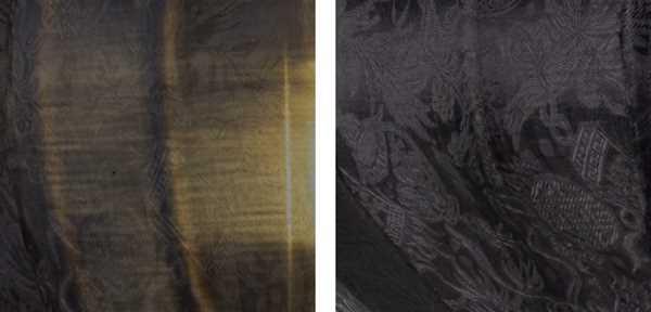 Lampion schwarz Seide detail