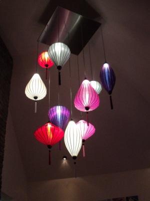 Silk lanterns as a hanging light