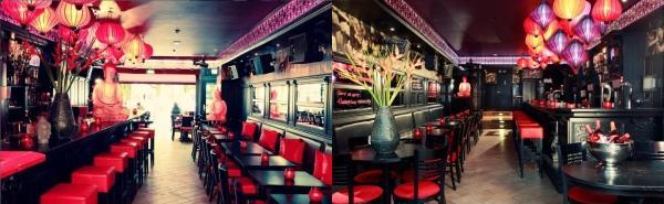 Silk lanterns in a bar