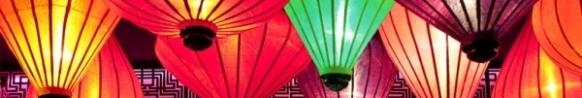 Vietnamese silk lanterns Hoi An