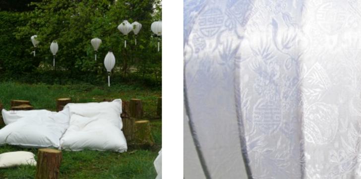 Lampion als Hangelampe Weiß: Deckenlampen Hälngeleuchter