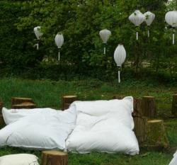 Weisse Garten Laternen f�r Dekoration