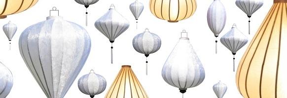 Lampion als H�ngelampe Wei�: Deckenlampen H�ngeleuchter