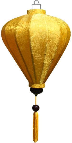 Gele lampion ballon / B-YE-45-S