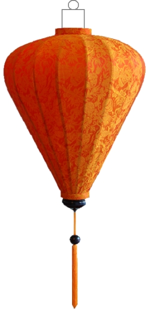 Oranje lampion ballon / B-OR-45-S
