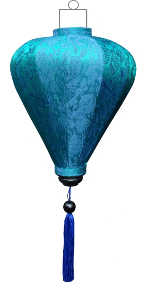 Turquoise lampion ballon / B-TU-45-S