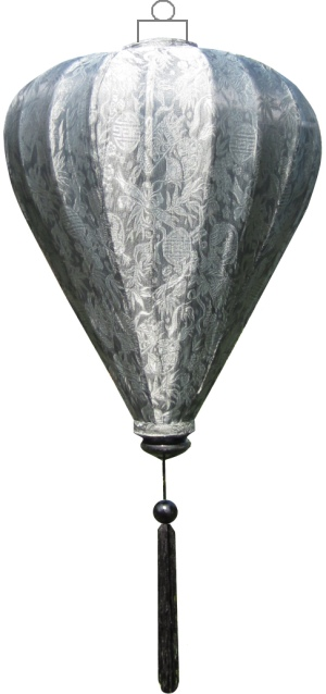 Zilveren lampion ballon / B-SL-45-S