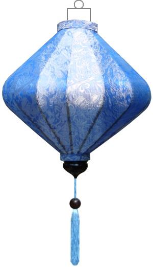 D-BL-45-S Blauwe lampion diamant