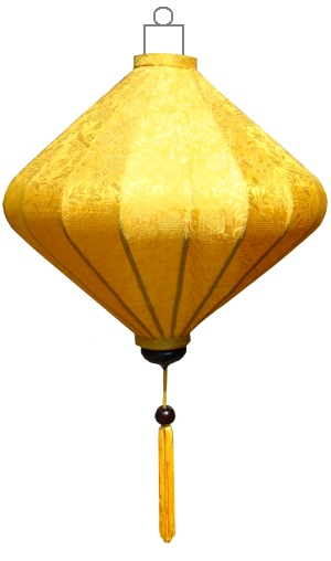 D-YE-62-S Gele lampion diamant