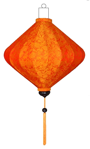 D-OR-62-S Oranje lampion diamant