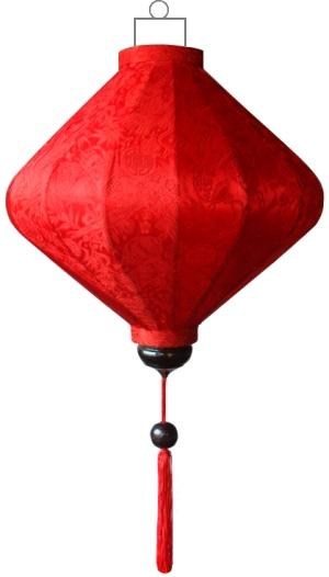 D-RD-72-S Rode lampion diamant