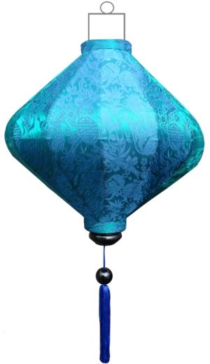 D-TU-62-S Turquoise lampion diamant