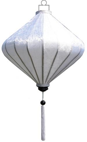 Witte lampion diamant / D-WH-45-S