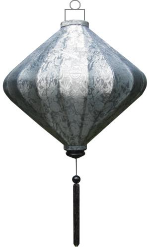 Zilveren lampion diamant / D-SL-45-S