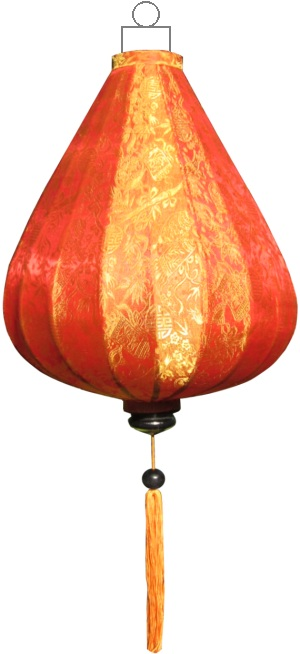 Oranje lampion druppel / DR-OR-72-S