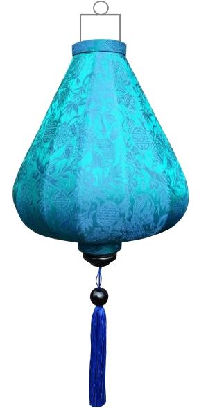 Turquoise lampion druppel / DR-TU-45-S