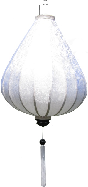 DR-WH-62-S Witte lampion druppel