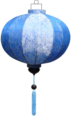 Blauwe lampion globe / G-BL-45-S