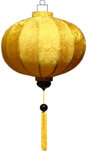 Gele lampion globe / G-YE-45-S