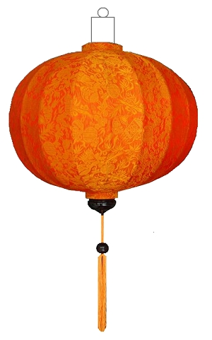 Oranje lampion globe / G-OR-45-S