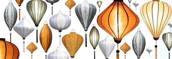 Zijden lampen als woonaccessoires