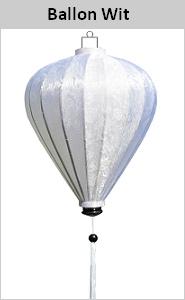Zijden lamp ballon wit