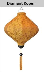 Woonaccessoire zijden lamp Diamant Koper