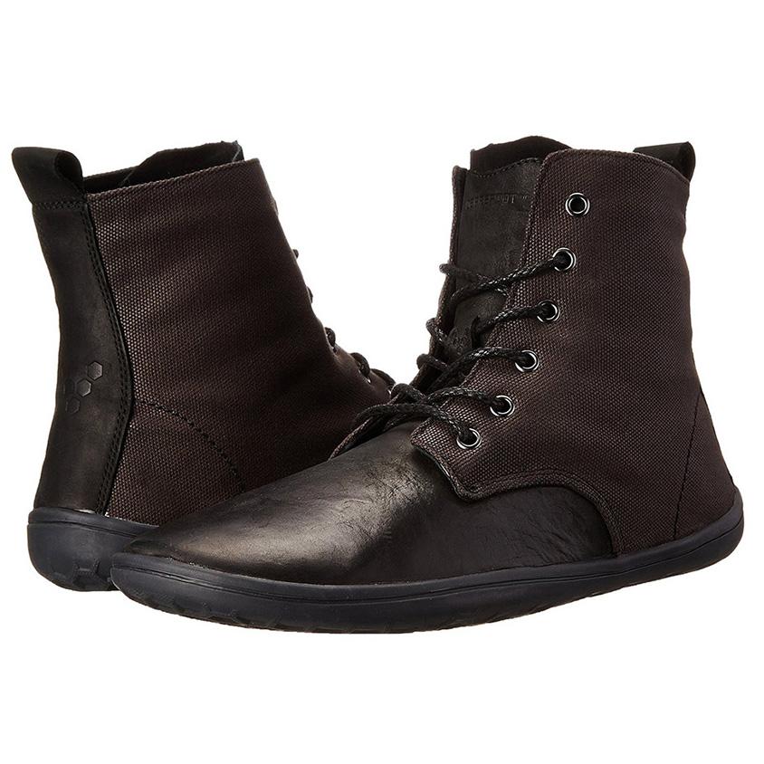 Zwarte leren VIVOBAREFOOT Scott schoenen