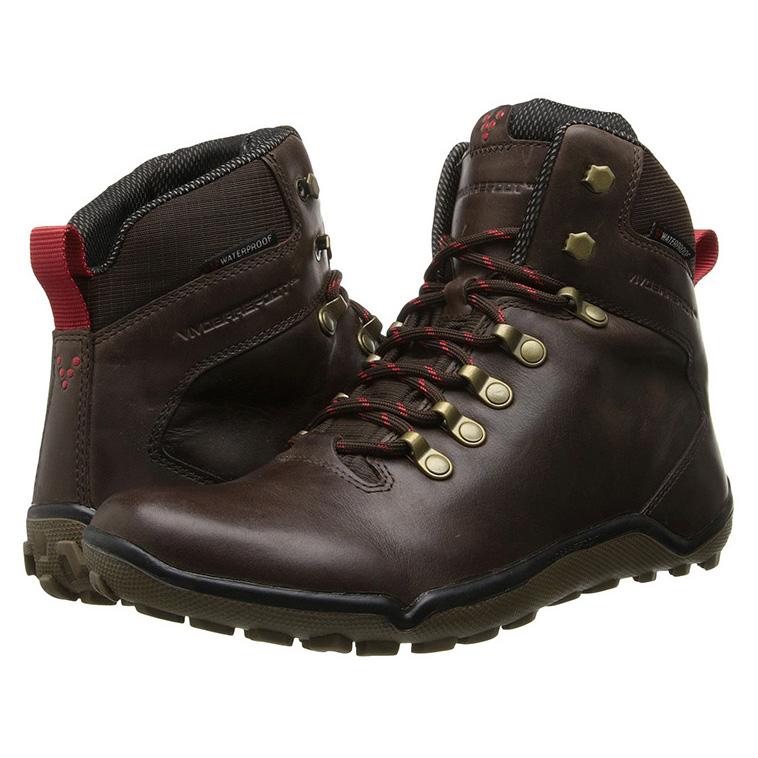 Bruine leren VIVOBAREFOOT Tracker schoenen