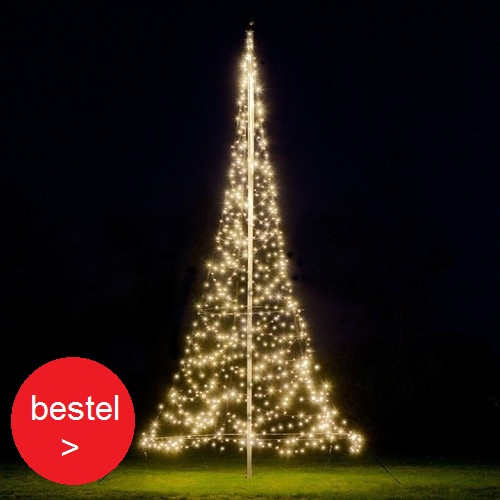 'Fairybell 600 Led vlaggenmast kerstboom'