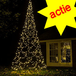 Fairybell kerstboom 640 Led warnwit + 4M  mast