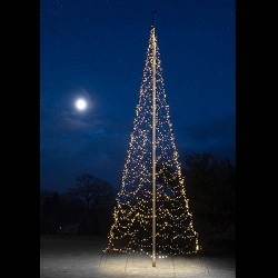 FAIRYBELL 2000 LED WARM-WIT VLAGGENMAST KERSTBOOM