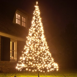 3M Fairybell kerstboom 480 LED warmwit Twinkel effect met mast