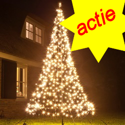 Fairybell kerstboom 480 Led warmwit + 3M mast