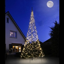 "FAIRYBELL 1200 LED  WARM-WIT ""TWINKEL EFFECT\""VLAGGENMAST KERSTVERLICHTING"