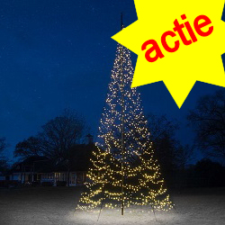 Fairybell 1500 Led  kerstverlichting warmwit  Twinkel voor 6M vlaggenmast