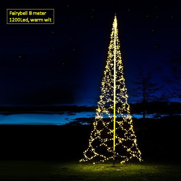 Fairybell 800 Cm 1200 Led Warm Wit Vlaggenmast Kerstverlichting