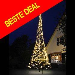 Fairybell 900 LED warmwit 6M vlaggenmast kerstverlichting