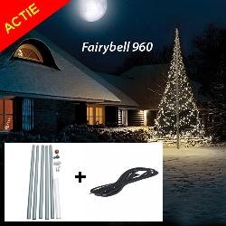Actiepakket Fairybell 1200 LED warmwit + 6m mast