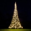FAIRYBELL 600 LED WARM-WIT VLAGGENMAST KERSTVERLICHTING