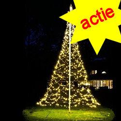 Fairybell 1200 Led  kerstverlichting warmwit voor 6M vlaggenmast